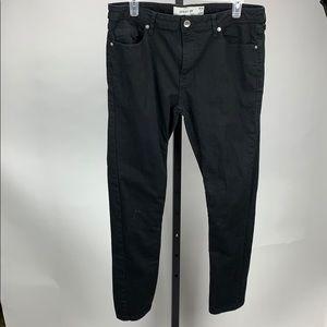 Topman Black Spray On Jeans Size 36x30